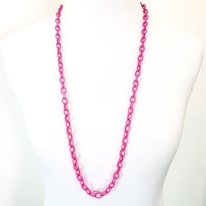 J. Crew Sweater Necklace Hot Pink